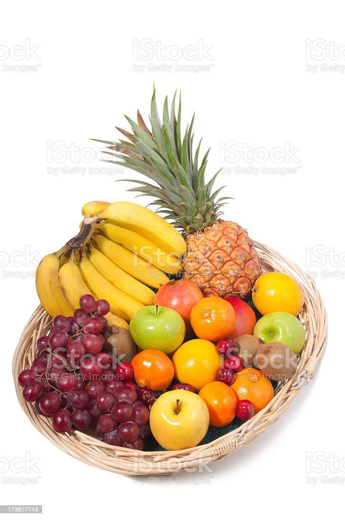 Basket of Fruits royalty-free stock photo