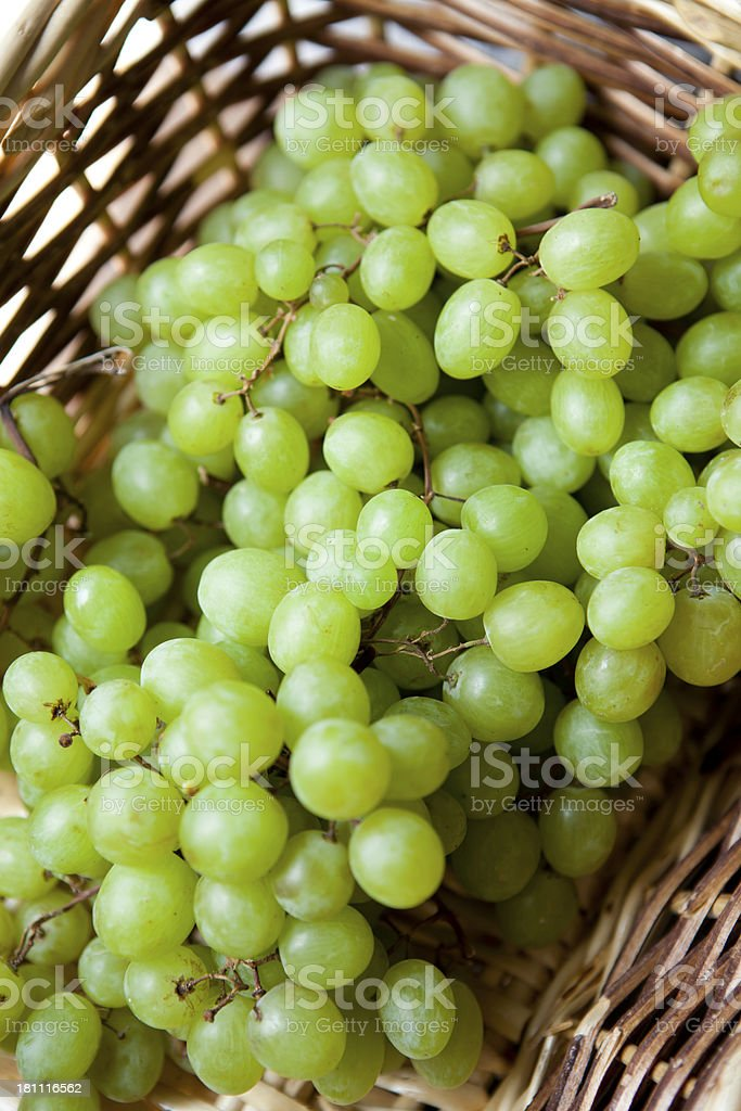 Basket Of Grapes royalty-free stock photo