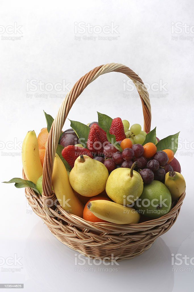 Basket of health stock photo