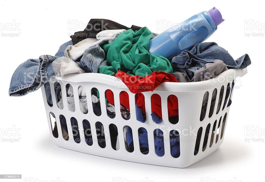 Basket of Laundry stock photo