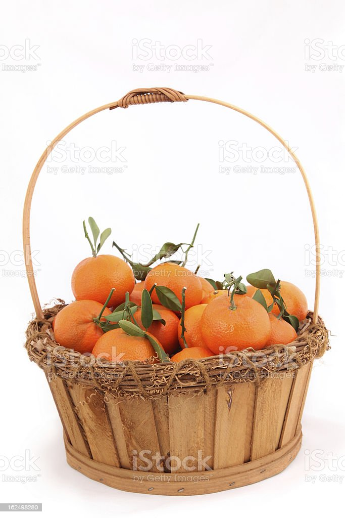 Basket of Oranges royalty-free stock photo