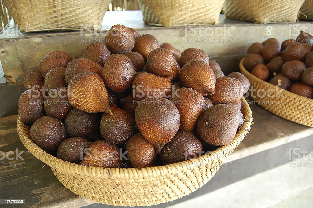 Basket of snakefruit stock photo