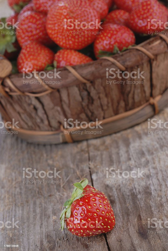 Basket of strawberries royalty-free stock photo