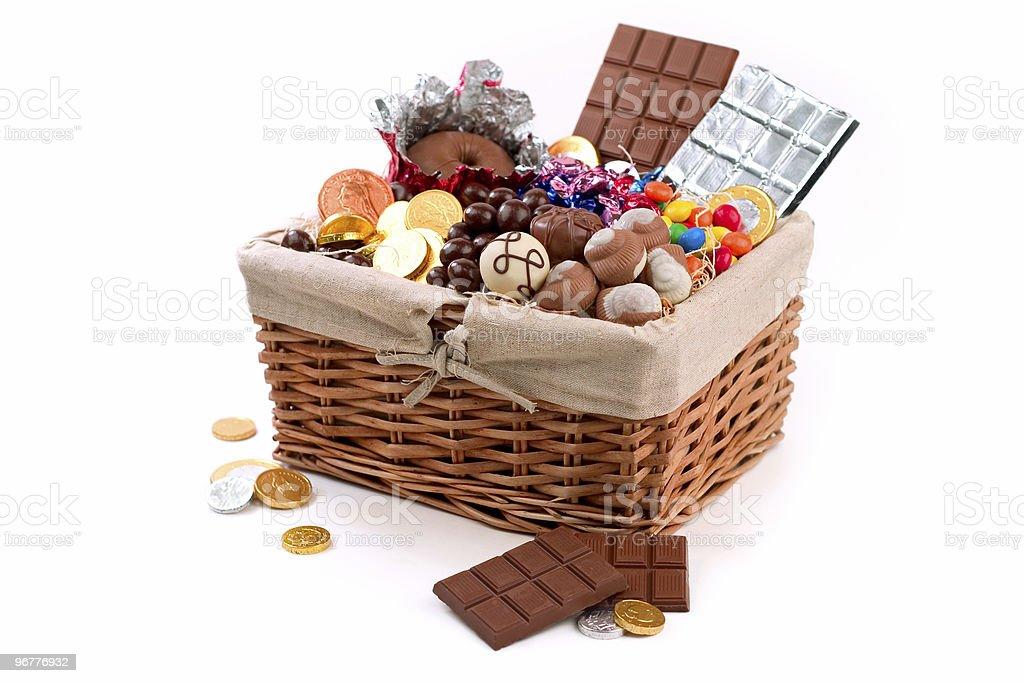 Basket of Sweets stock photo