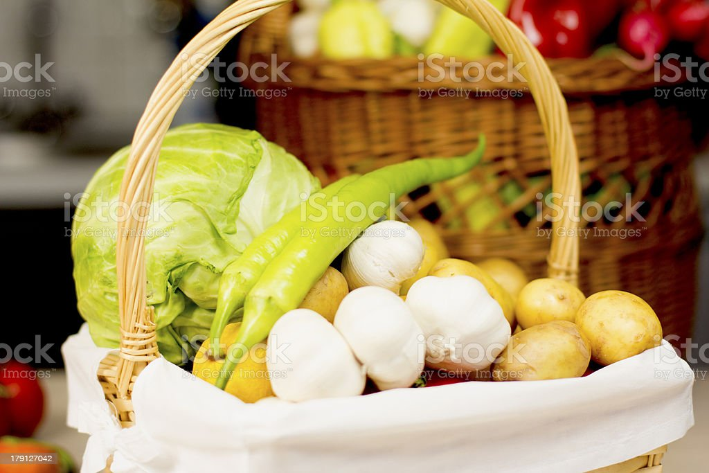 Basket of vegetables royalty-free stock photo