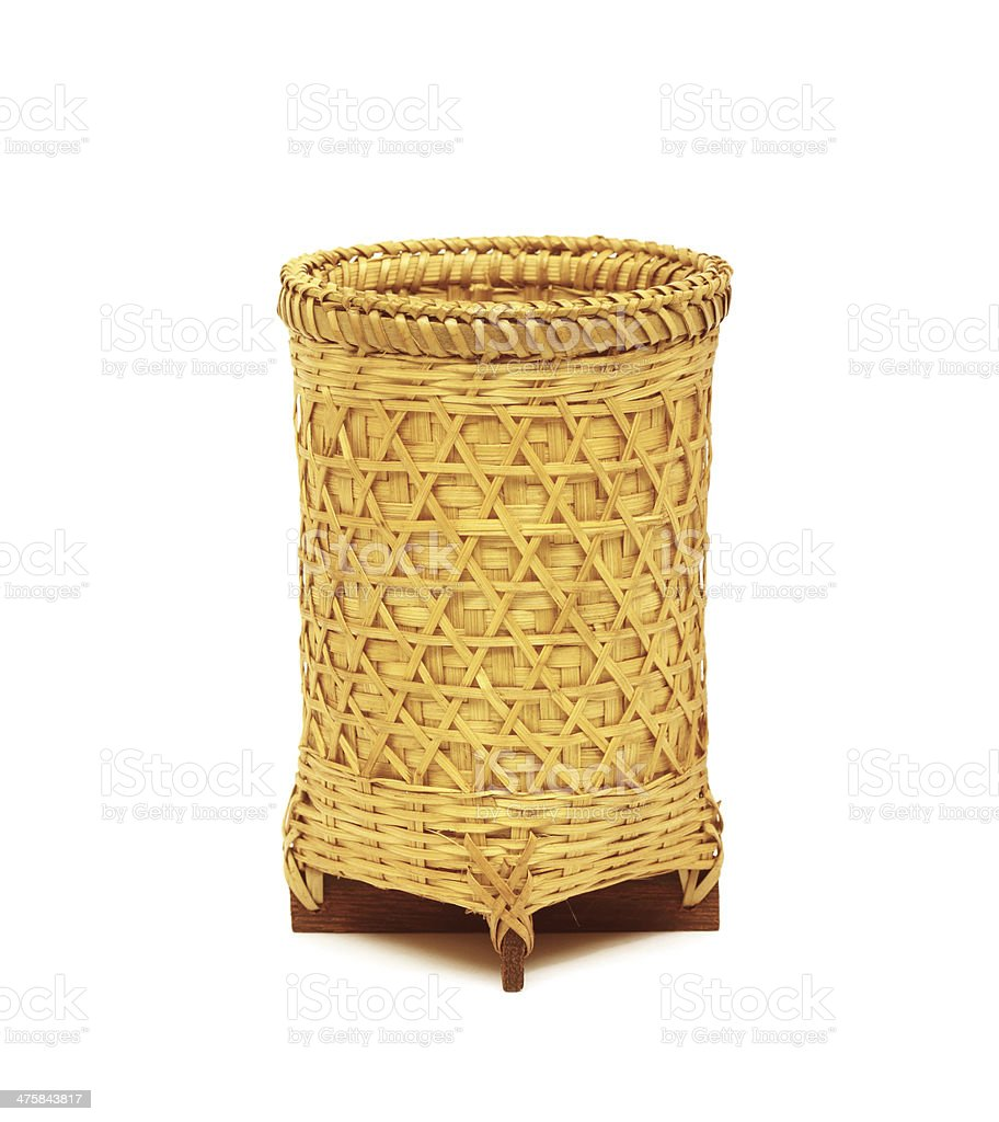 Basket on white background royalty-free stock photo