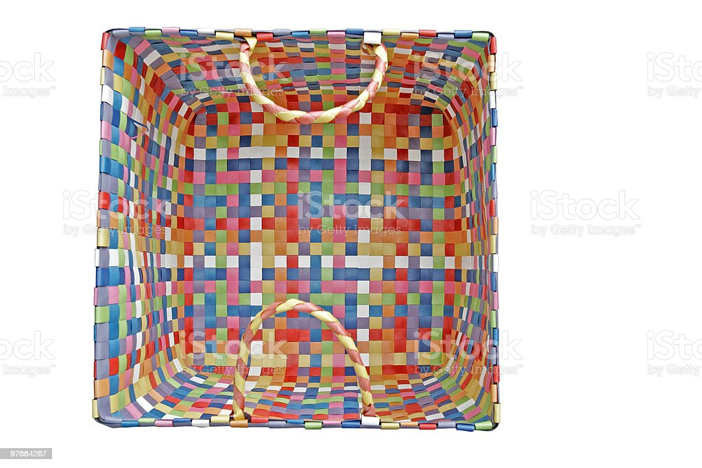 basket(with clipping path) royalty-free stock photo