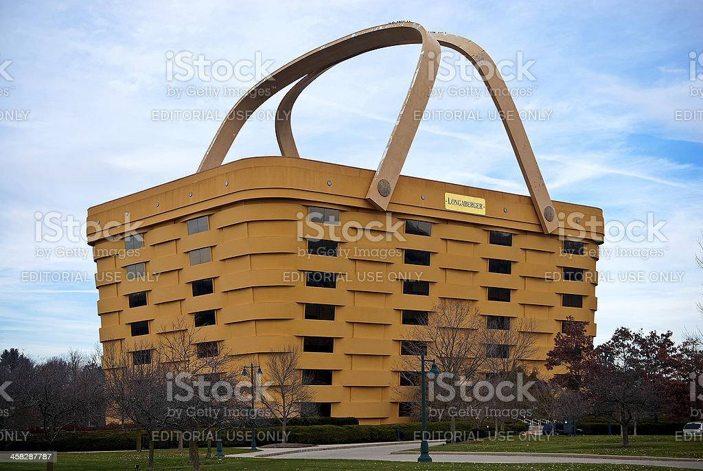 Basket Shaped Longaberger Company Home Office stock photo