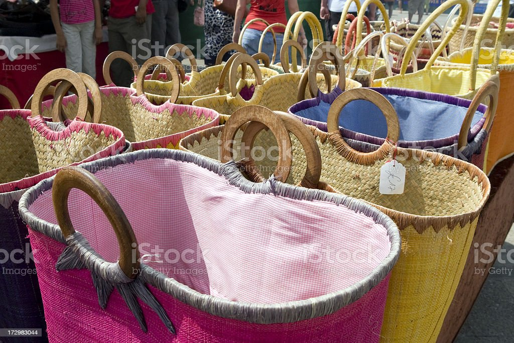 Basket stall royalty-free stock photo