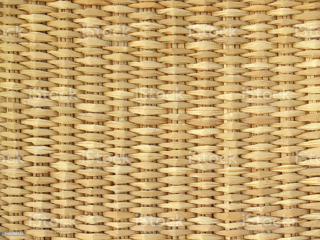 Basket Textural Background in Natural Straw-colors - Ecuador stock photo