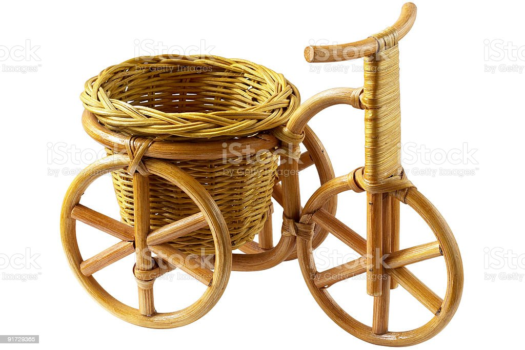 Basket - Tricycle (clipping path) stock photo