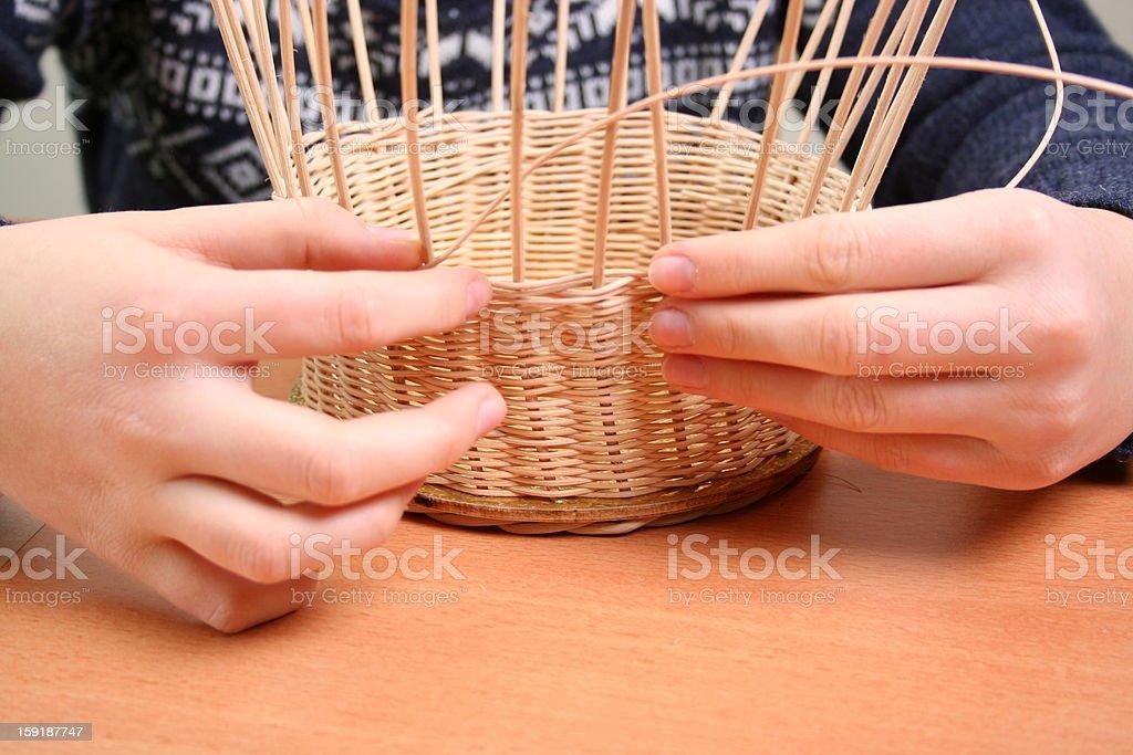 Basket waeving stock photo