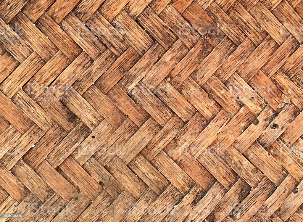 Bamboo old basket weave texture ,handwork