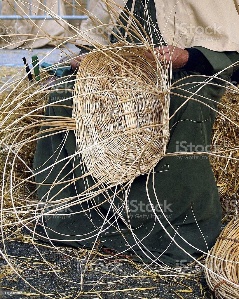 Basket Weaving royalty-free stock photo
