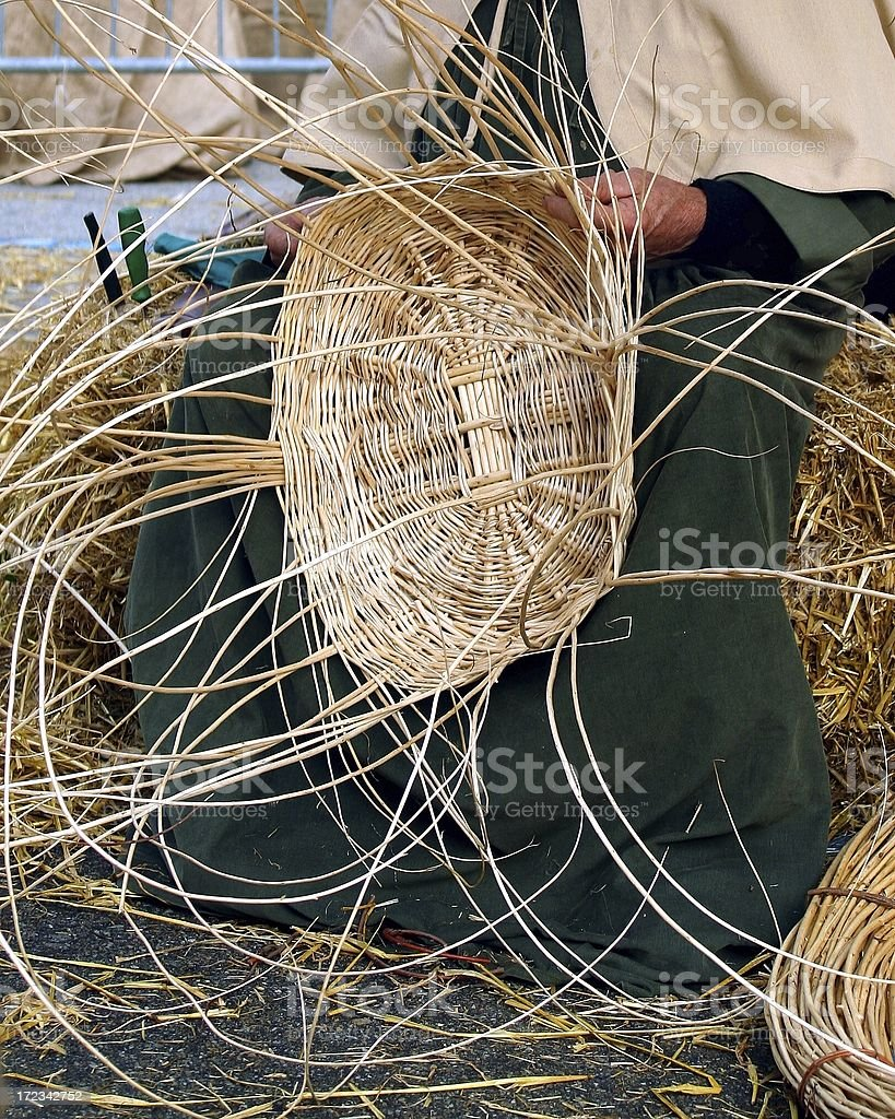 Basket Weaving stock photo