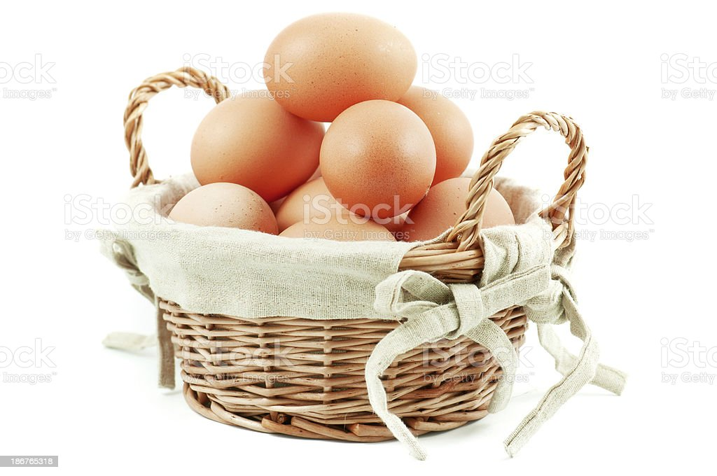 basket with eggs royalty-free stock photo