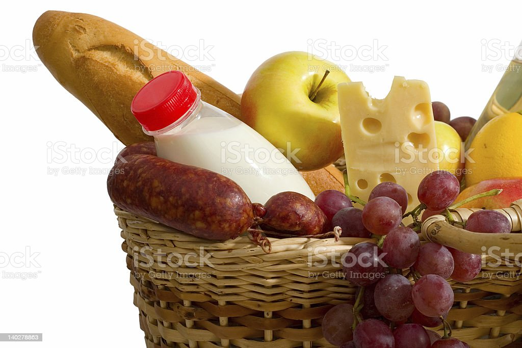 basket with food royalty-free stock photo