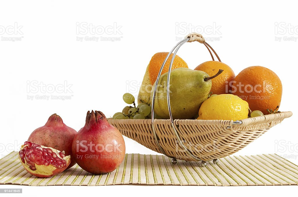 Basket with fruit royalty-free stock photo