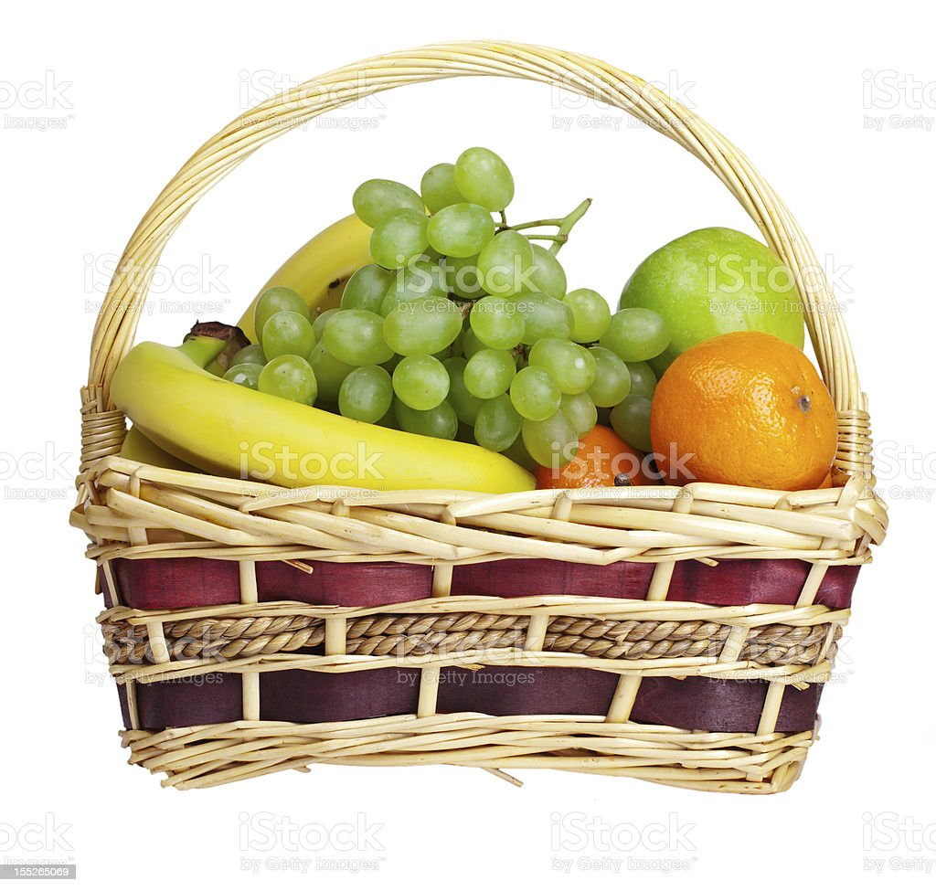 basket with fruits royalty-free stock photo