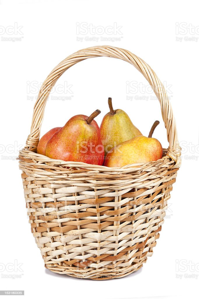 Basket With Pears royalty-free stock photo