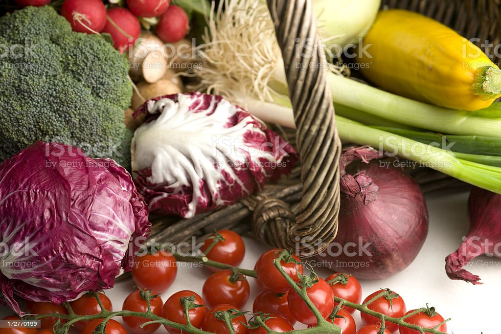 basket with vegetables royalty-free stock photo