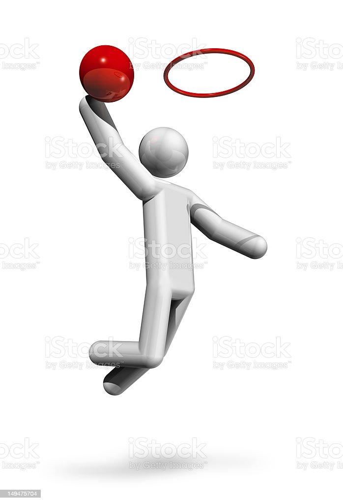 Basketball 3D symbol royalty-free stock photo
