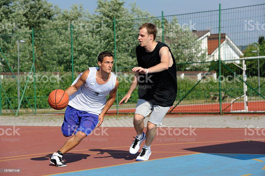 Basketball action royalty-free stock photo