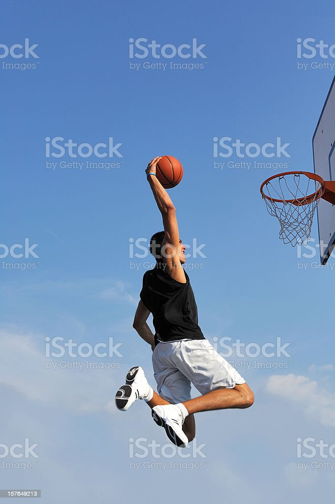 Basketball action royalty-free stock photo