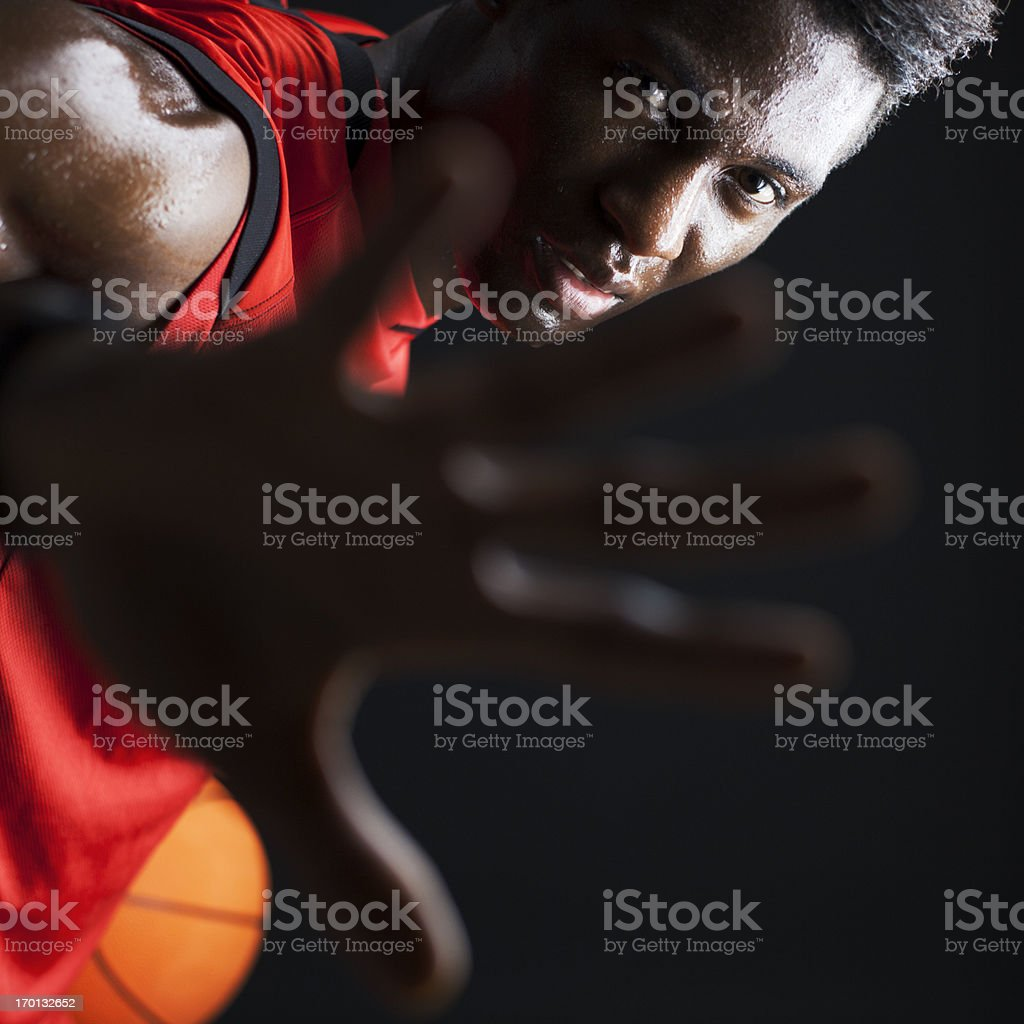 Basketball agressive palyer royalty-free stock photo