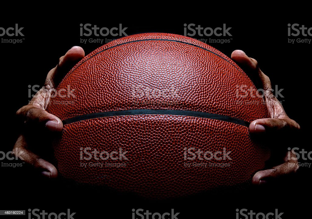 Basketball and Hand Gripping stock photo