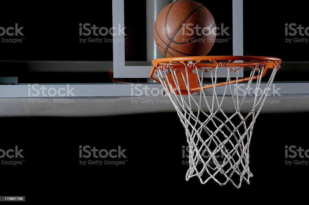 Basketball and Hoop royalty-free stock photo