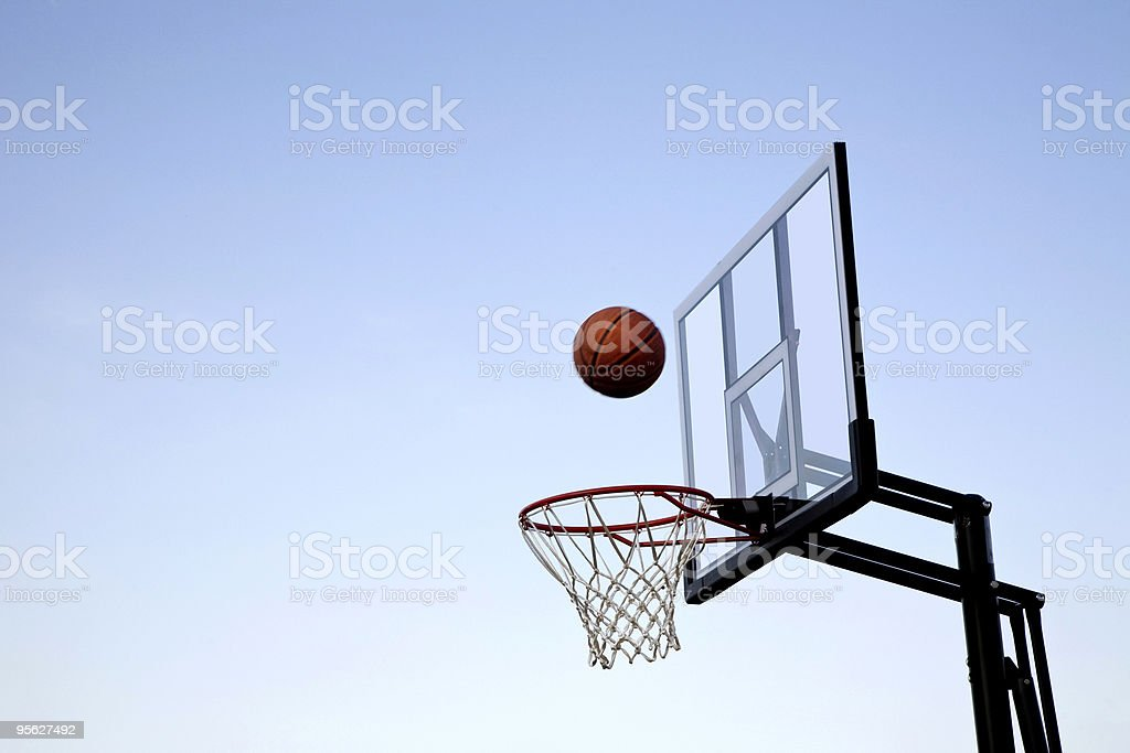 Basketball and Hoop stock photo