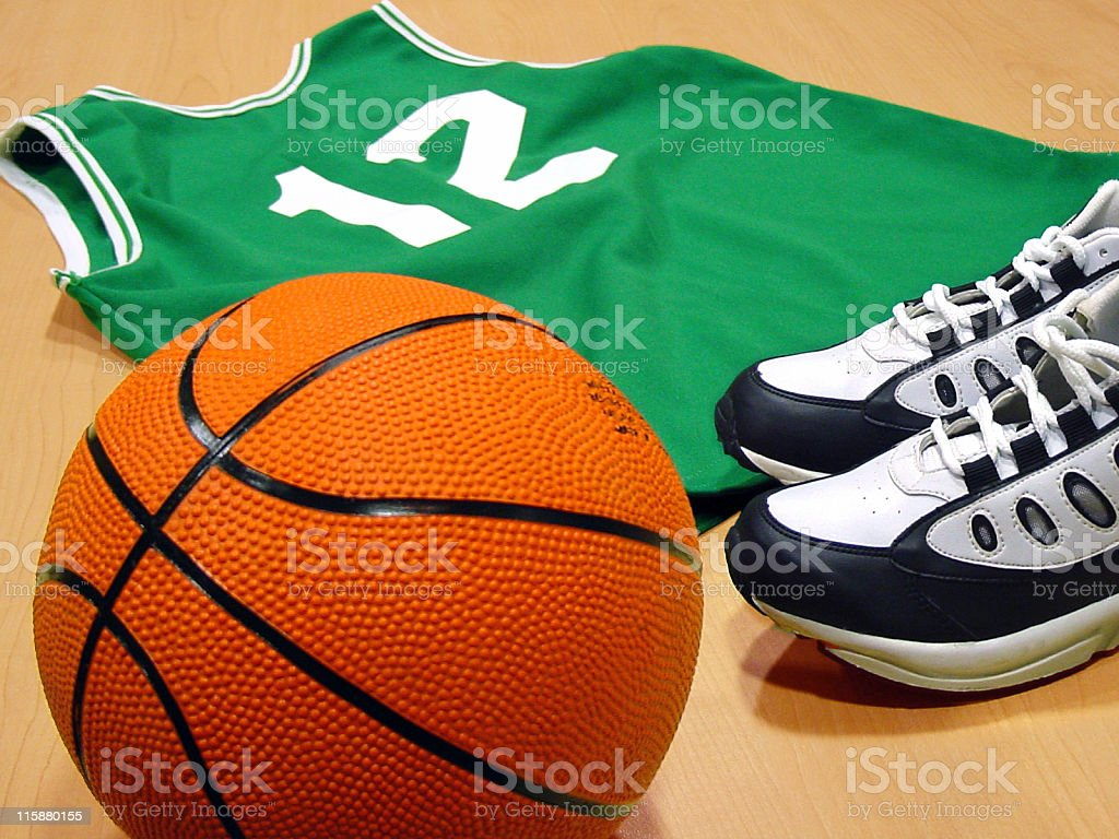 Basketball and Jersey stock photo