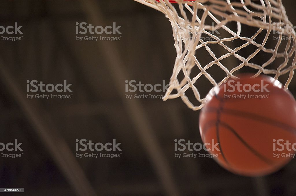 Basketball and Net stock photo