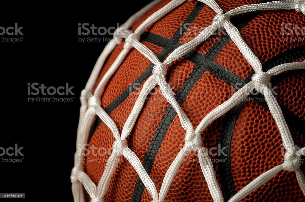 Basketball and Net stock photo