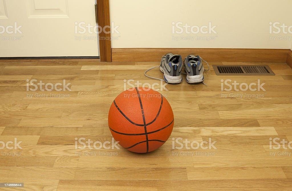 Basketball and Sports Shoes stock photo