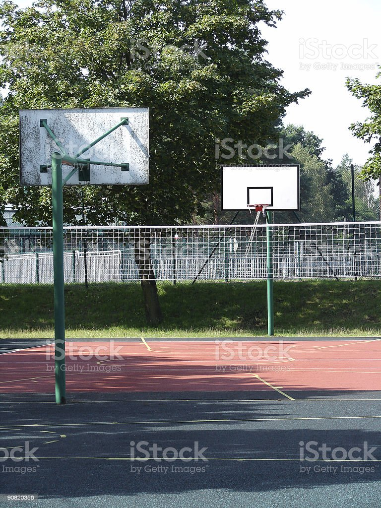 basketball and volleyball stock photo