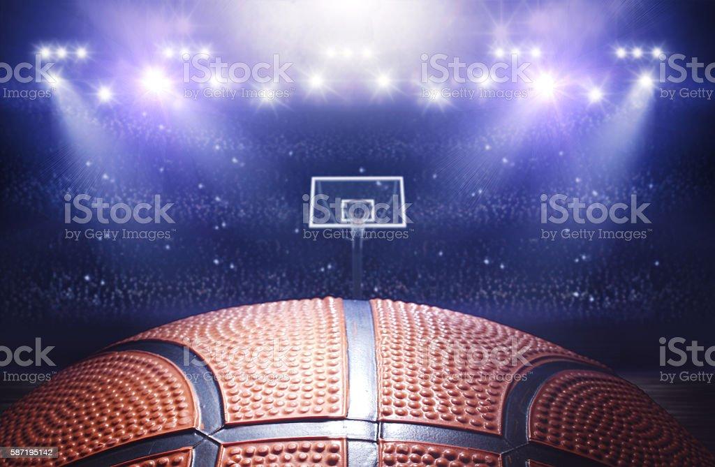 Basketball arena 3d stock photo