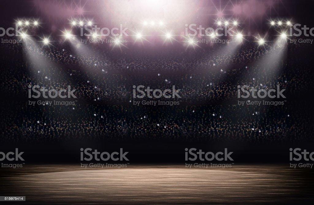 Basketball arena background stock photo