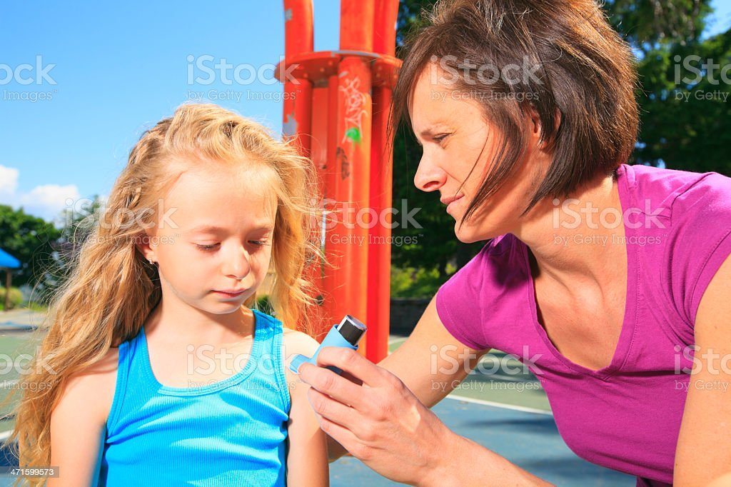 Basketball - Asthma royalty-free stock photo