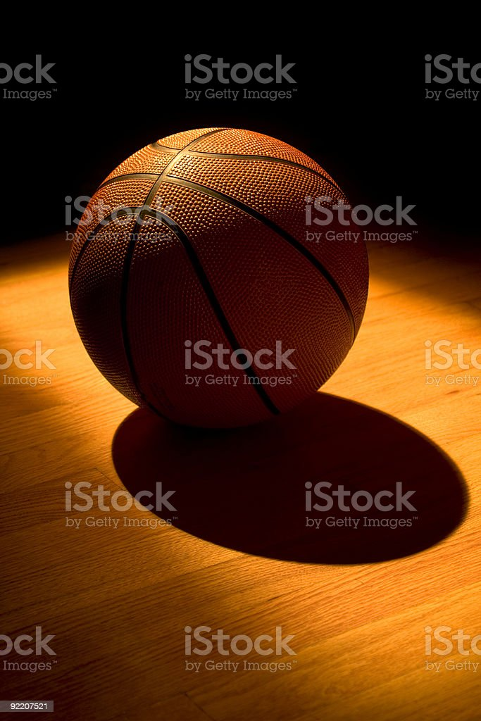 Basketball at night stock photo