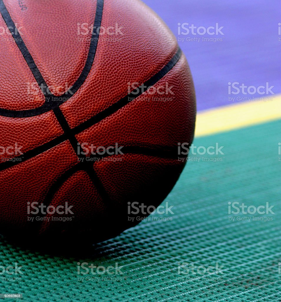Basketball at the line royalty-free stock photo