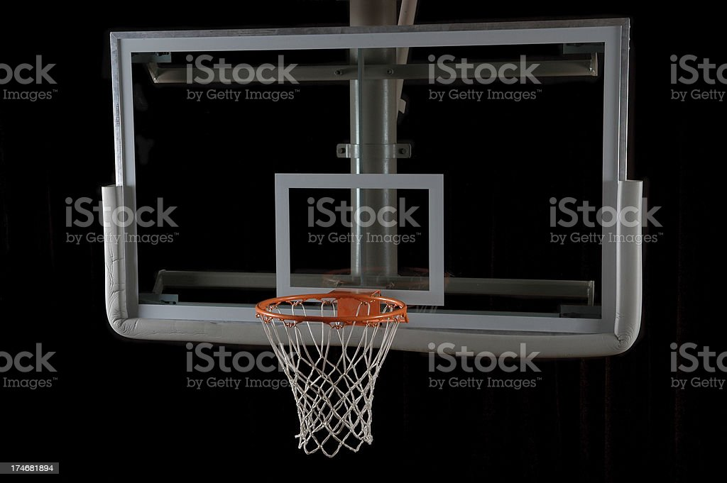 Basketball Backboard and Hoop from Above royalty-free stock photo