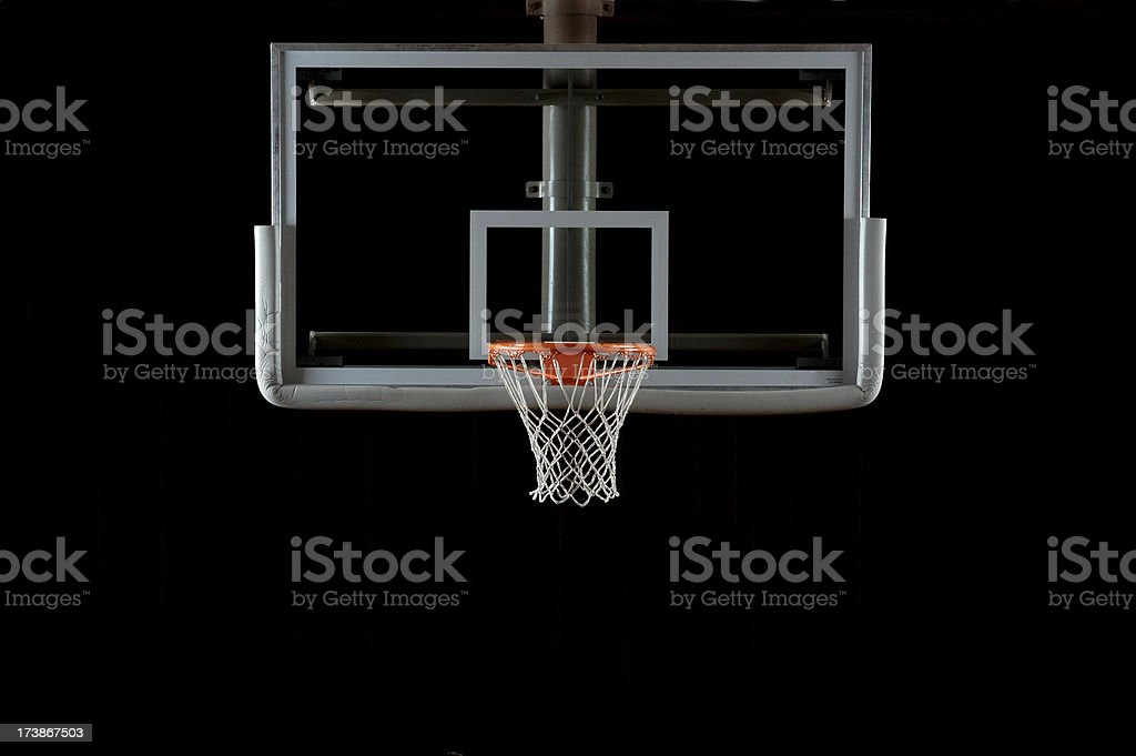 Basketball Backboard and Hoop stock photo