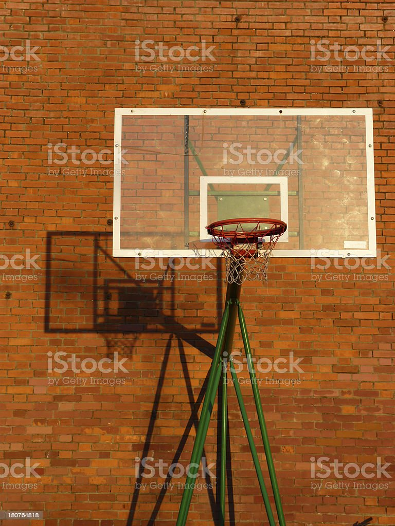 Basketball backboard and hoop royalty-free stock photo