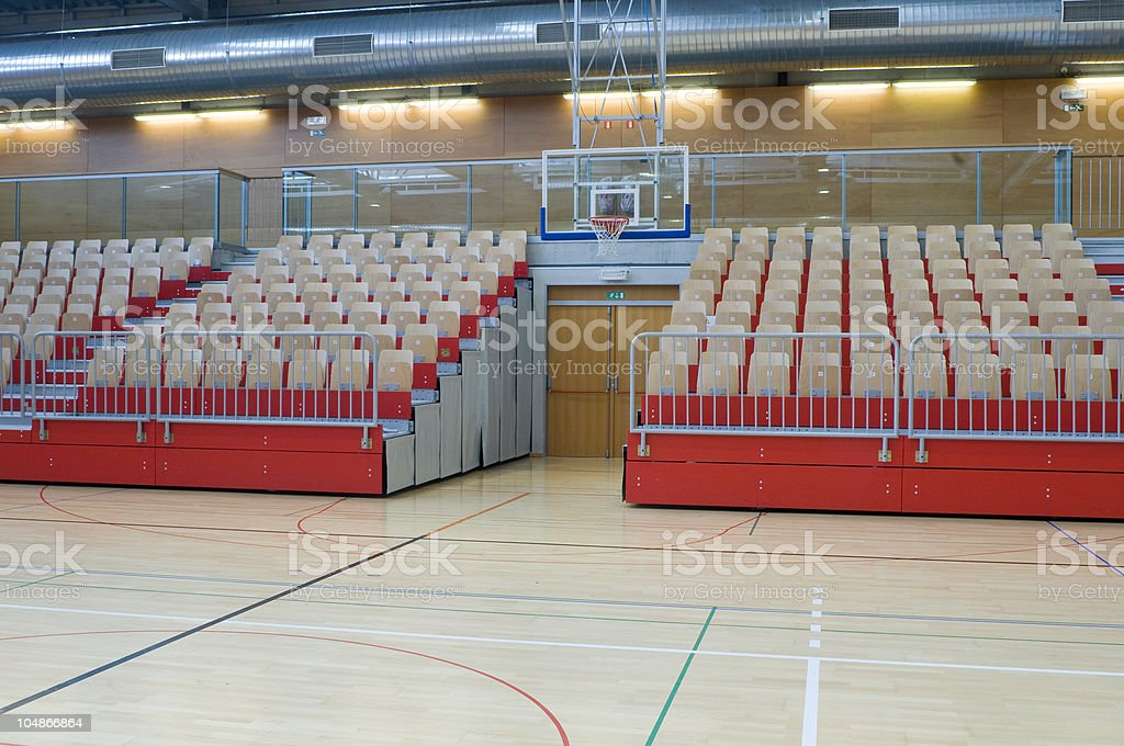 Basketball Backboard and Red Stand royalty-free stock photo