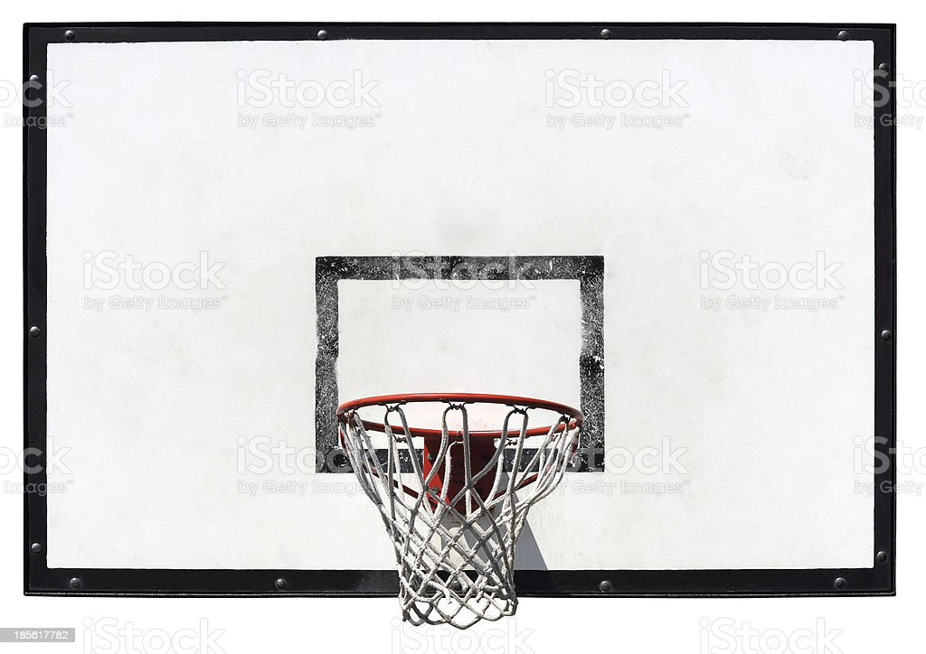 Basketball backboard stock photo
