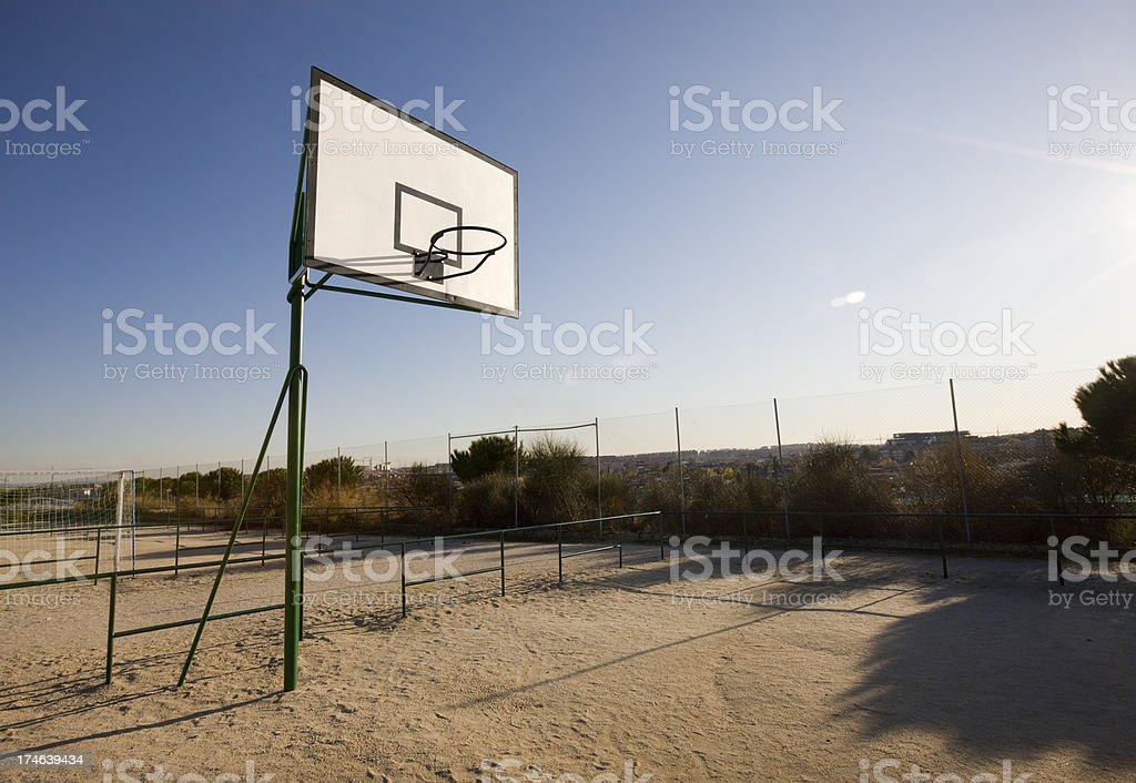 Basketball backboard series royalty-free stock photo