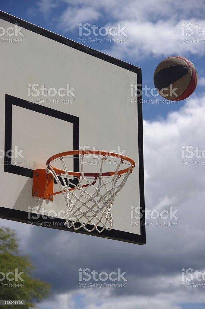 Basketball ball and board royalty-free stock photo