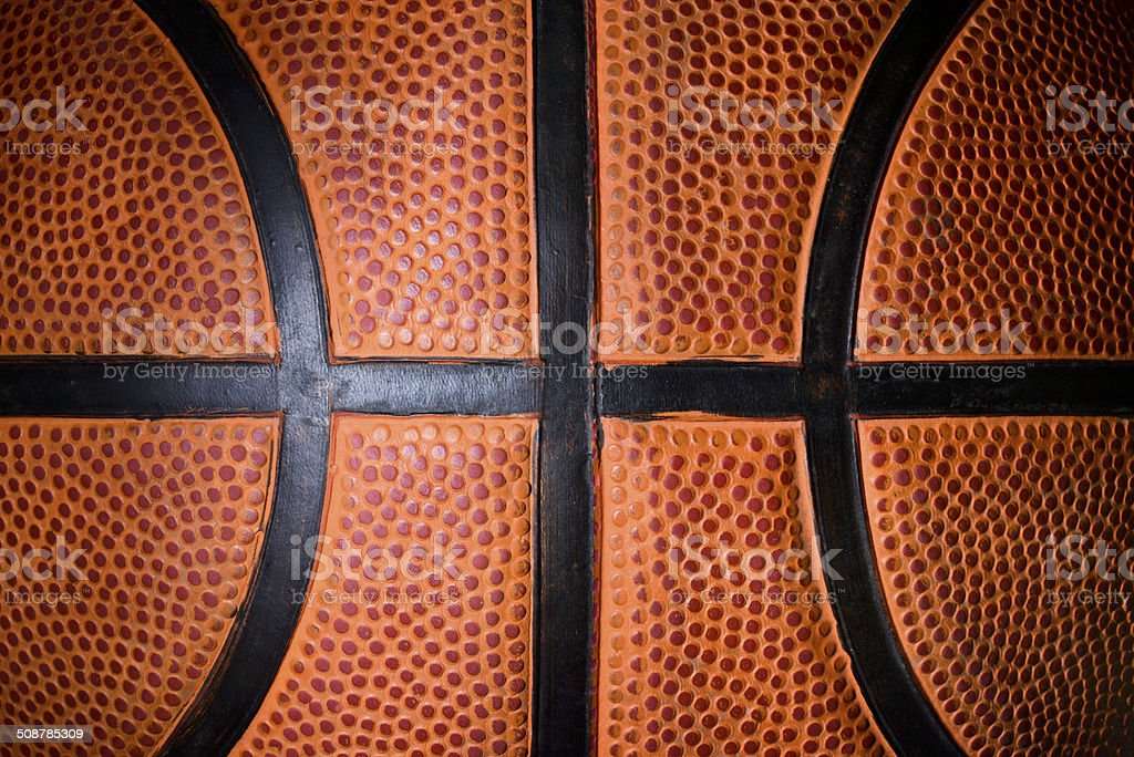 Basketball ball detail stock photo